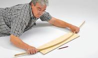 Wandregal: Bogen zeichnen