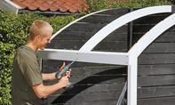 Bikeport-Dach montieren