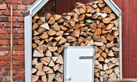 Brennholzregal