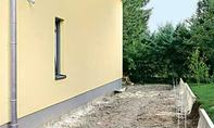 Haus-Einfahrt vor dem Pflastern
