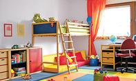 Halogen-Niedervolt-Deckenleuchte im Kinderzimmer
