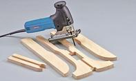 Dreirad selber bauen: Form ausschneiden