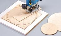 Dreirad selber bauen: Zirkel für Oberfräse