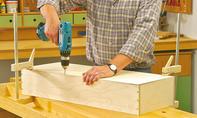 Holzkasten verleimen und montieren