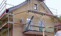 Fassade: Gerüst