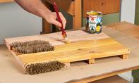 Fussmatte aus Holz imprägnieren