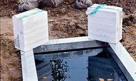 Wasserbecken beschweren