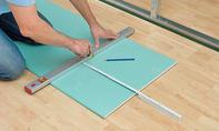 Gipskarton-Platten zuschneiden
