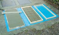 stahlbewehrte Platte betonieren