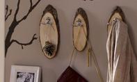 Kleiderhaken aus Baumscheiben