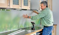 Glasplatte einsetzen