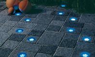 LED-Leuchtsteine im Betonsteinpflaster