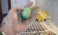 Eier färben: Marmoreffekt
