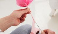 Valentinstag: Seidenpapier-Rosen basteln