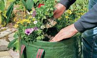 Pflanzsack Blumenbeet