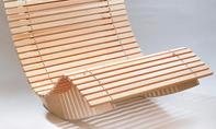 Saunaliege aus Holz