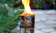 Baumfackel: Schwedenfeuer selbst bauen