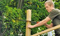 Zaun: Spalier als Gartenpforte bauen