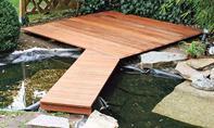 Holzsteg bauen