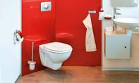 WC-Montage über Eck