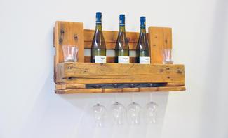 Paletten Upcycling: Weinregal Selber Bauen
