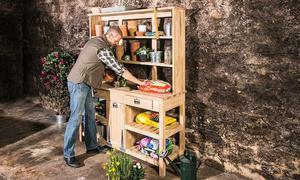 Garten Arbeitstisch selber bauen