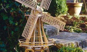 Gartenwindmühle selber bauen