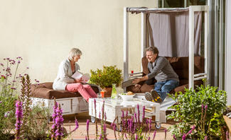 Outdoor-Palettenmöbel selber bauen