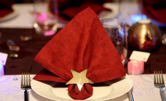 Serviette falten: Weihnachten