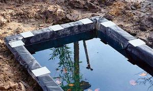 Wasserbecken anlegen