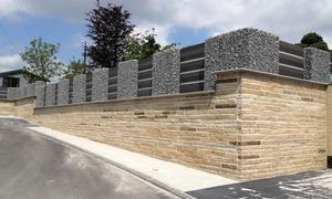 Gabionen Mauer