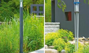 Gartenlampe aus Altglas
