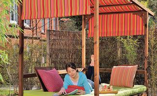 Himmelbett für den Garten