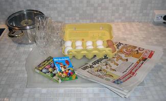 Material Ostereier färben