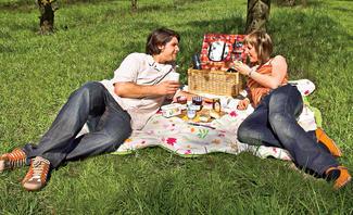 Picknickdecke bauen