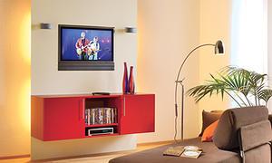 TV-Wand mit Hängeschrank