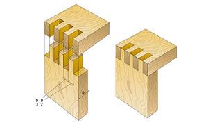 Holz eckverbindungen for Holzverbindungen herstellen