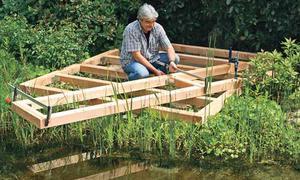 Teich Steg Bauen