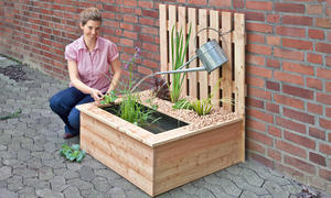 springbrunnen selber bauen. Black Bedroom Furniture Sets. Home Design Ideas