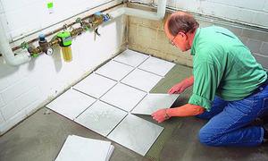 Fußboden Fliesen Richtig Verlegen ~ Fliesen diagonal verlegen selbst.de