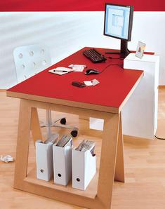 Schreibtischkombination bauen