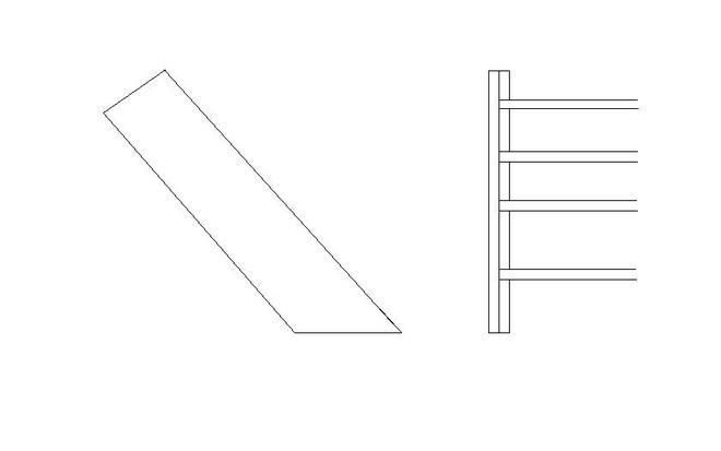 Zeichnung Wangentreppe