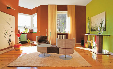 wandgestaltung: ton und farbe | selbst.de, Wohnzimmer