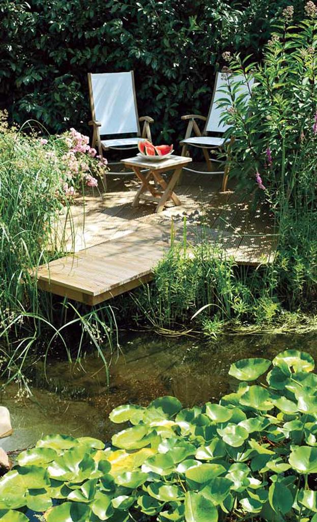 Teich-Steg selber bauen