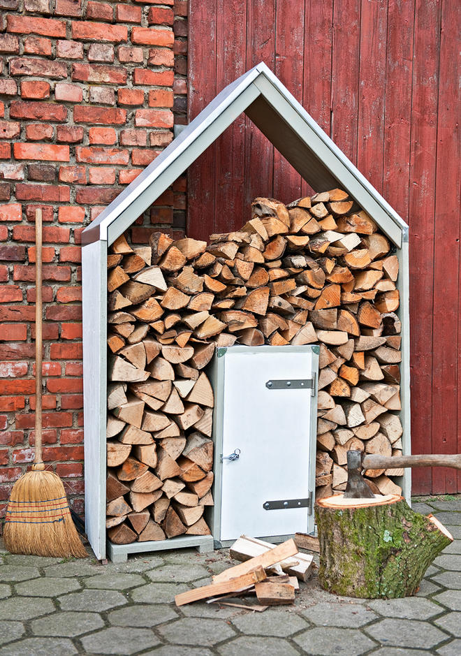 Brennholzregal außen  Brennholzregal | grafffit.com