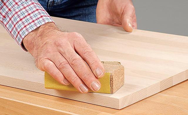 Holz Lack Schleifen Körnung
