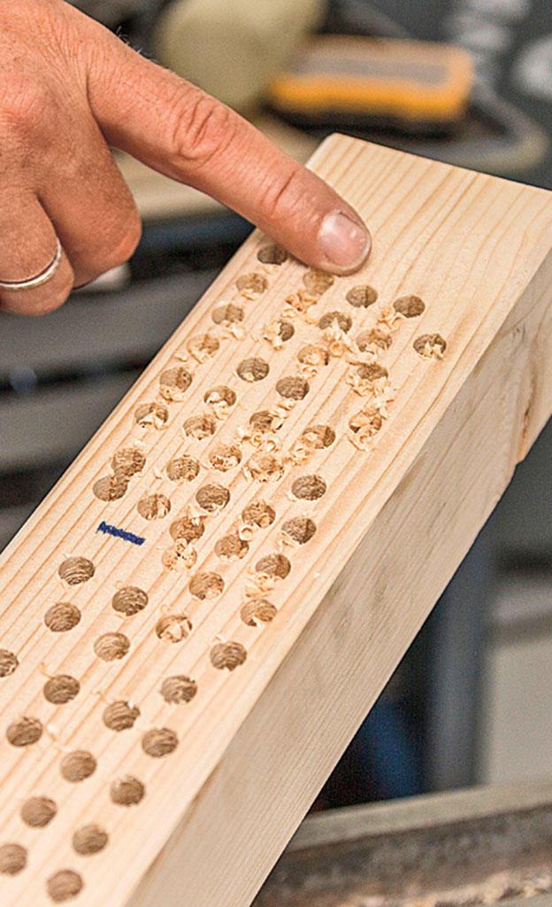 Holzbohrer-Test
