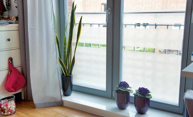 Fesselnd Sichtschutz Am Fenster Dank Milchglas Folie