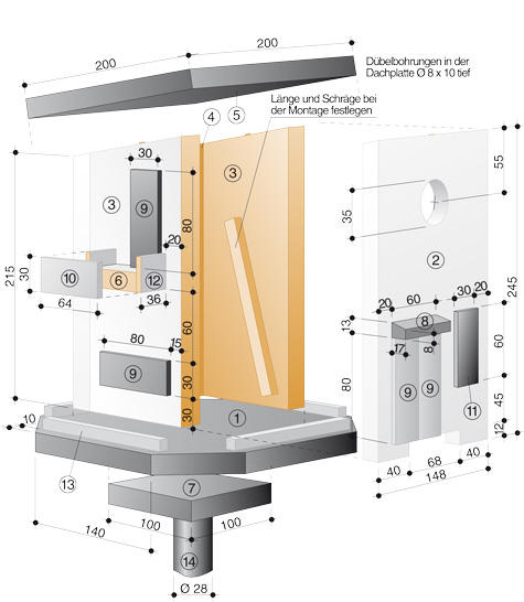 vogelhaus material zeichnung. Black Bedroom Furniture Sets. Home Design Ideas