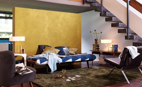 Schlafzimmer wände farblich gestalten  Schlafzimmer mit Farbe gestalten | selbst.de